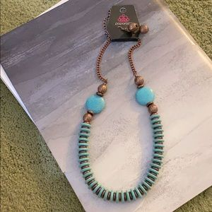 Paparazzi Turquoise Necklace & Earrings